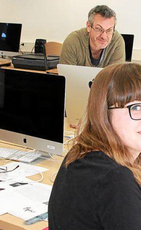 Les étudiants en Design Graphique